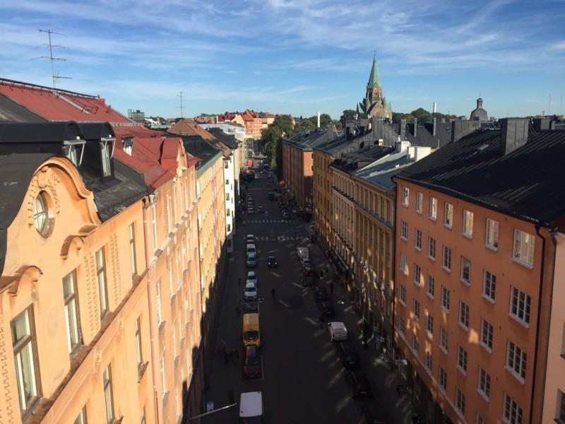 Utsikt från vindsvåning på Skånegatan