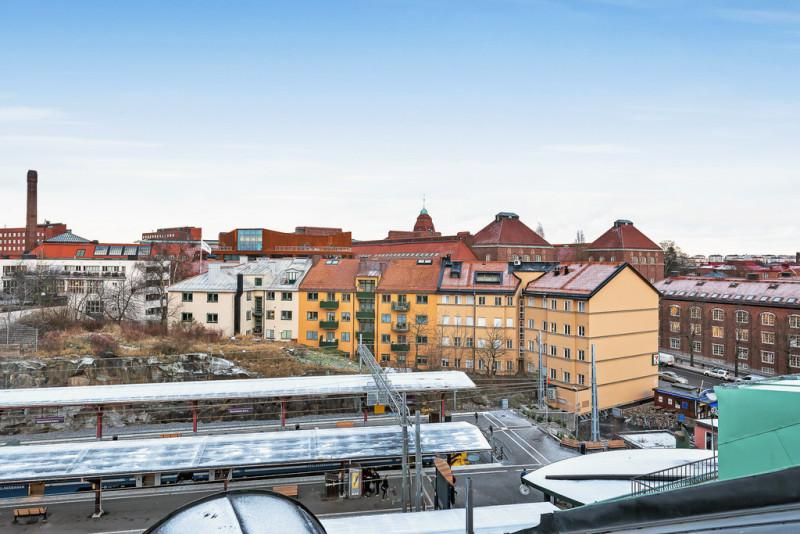 3:a och 4:a vid Östra station, utsikt mot KTH